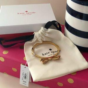 🎀 Kate Spade ♠️ Tied up Pave Bow Bangle